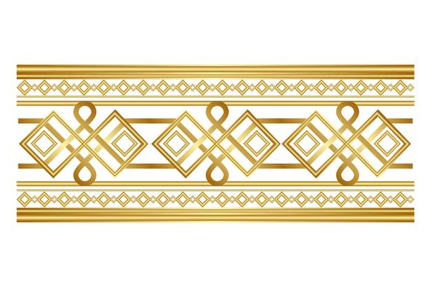 Borde ornamental dorado de lujo vector gratuito