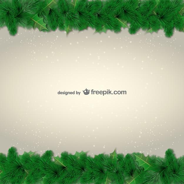 Bordes de hojas verdes para navidad | Descargar Vectores gratis