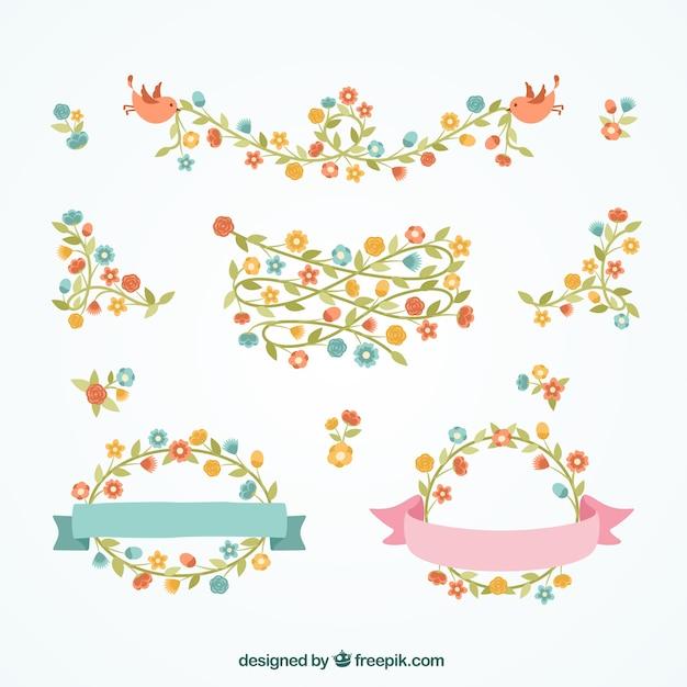 Bordes florales decorativos | Descargar Vectores gratis