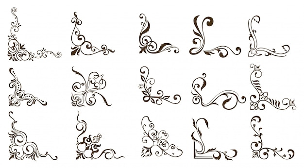 Bordes ornamentales Vector Premium