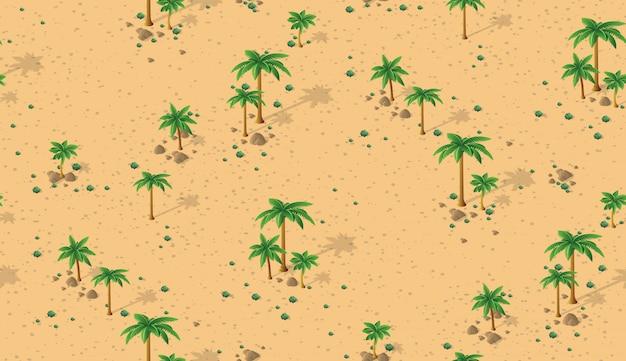 Bosque desierto patrón Vector Premium