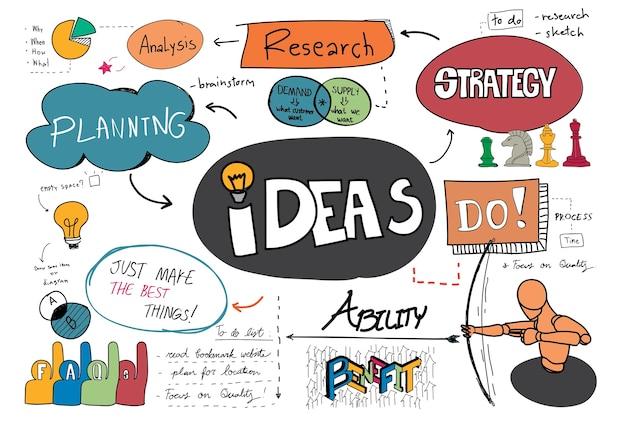 Bosquejo de ideas vector gratuito