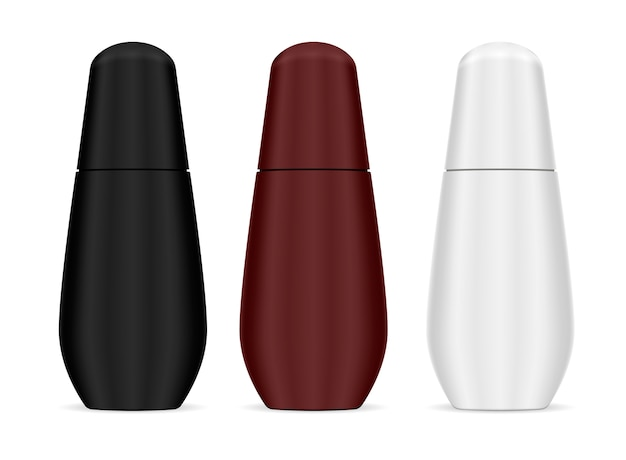 Botella cosmética moderna de forma suave para el cabello, el cuerpo. Vector Premium