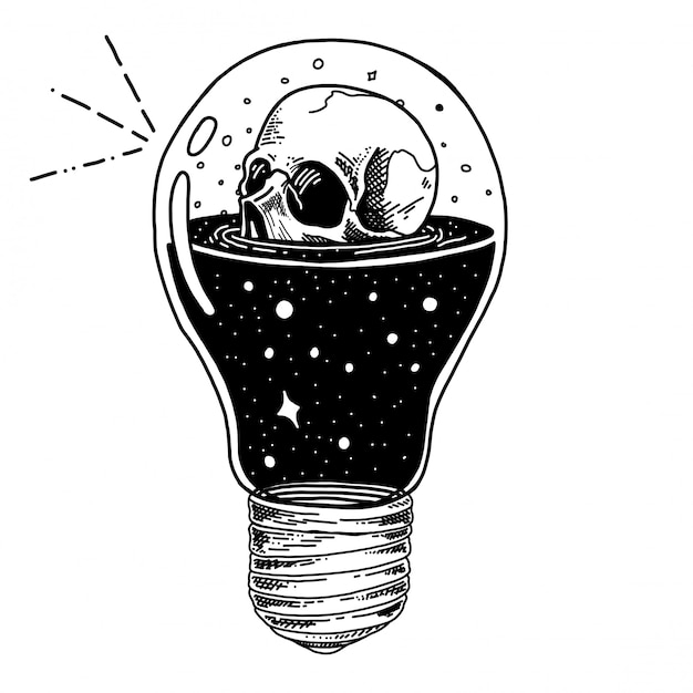 Botella con poción de salud, veneno y poción de cráneo dibujado a mano ilustración Vector Premium
