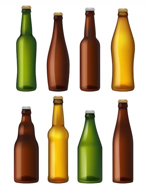 Botellas De Cerveza En Blanco Contenedores De Vidrio