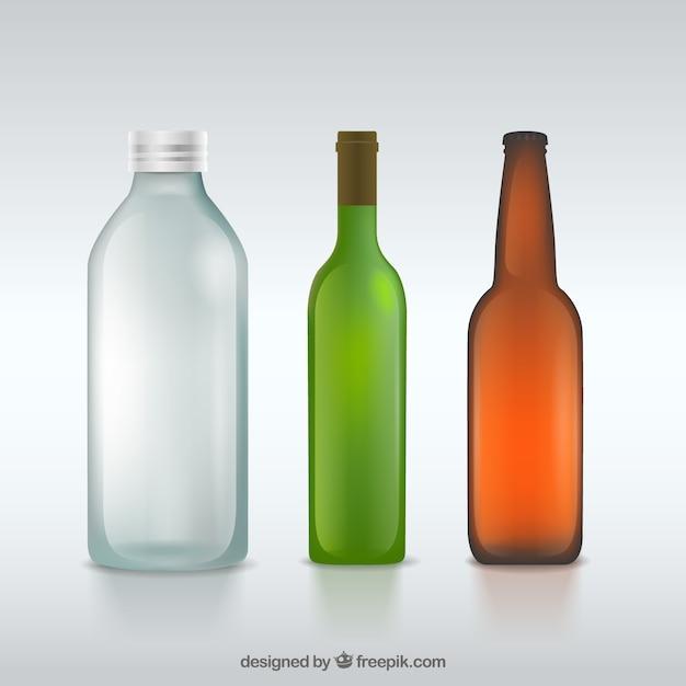 Botellas de vidrio Descargar Vectores gratis