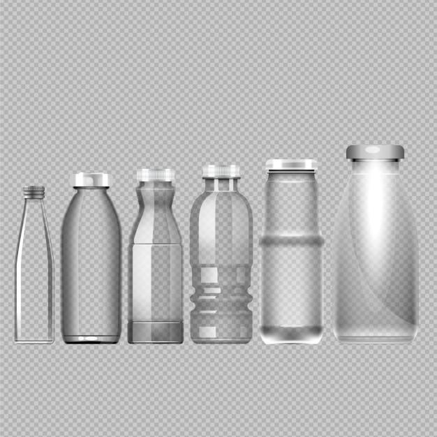 Botellas vacías vector gratuito