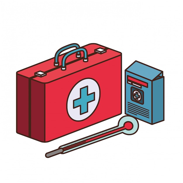 instrumentos para un botiquin de primeros auxilios