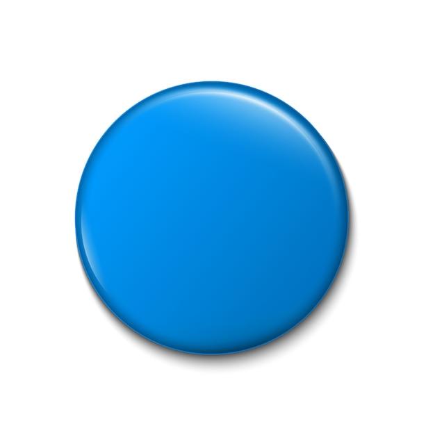 Botón pin 3d, plantilla de broche de insignia en blanco. Vector Premium