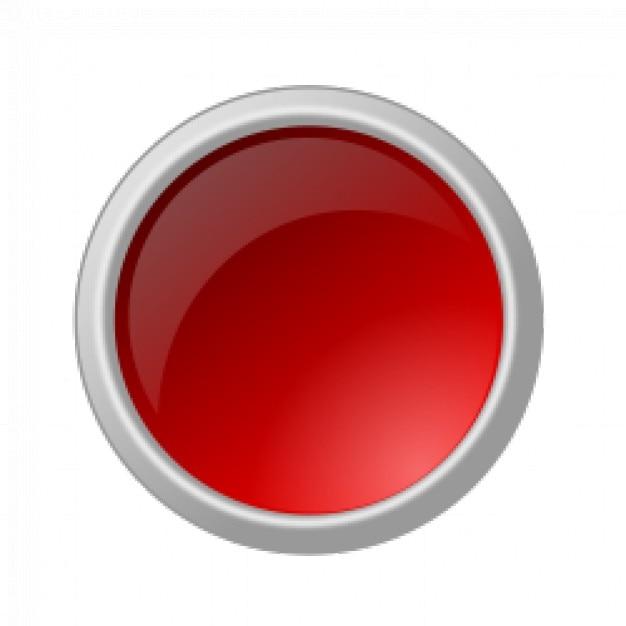 Botón rojo brillante | Vector Gratis