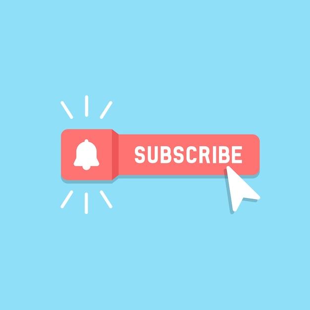 Botón de suscripción Vector Premium