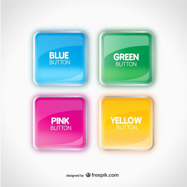 Botones de colores brillantes vector gratuito