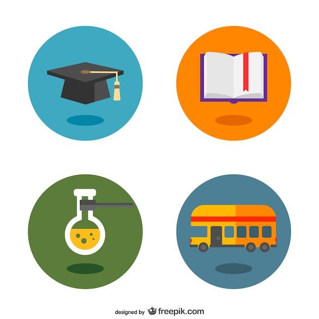 Botones con pictogramas de universidad | Descargar Vectores gratis