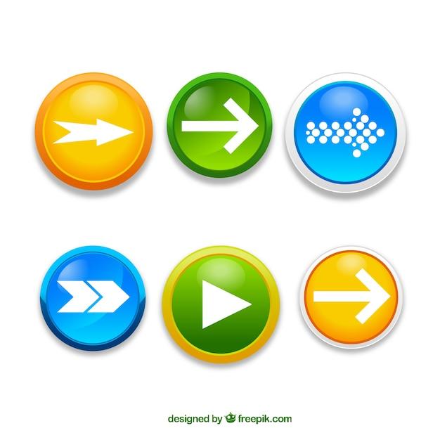 Botones de flechas vector gratuito