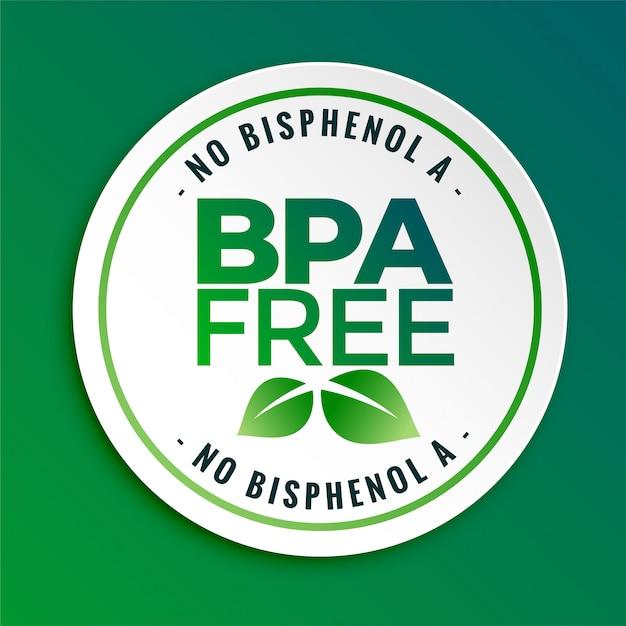 Bpa bisfenol-a y ftalatos sin etiqueta de sello de placa vector gratuito