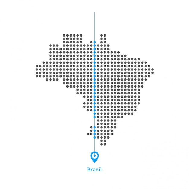 Brasil adorado vector de diseño de mapa Vector Premium