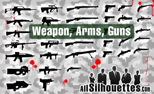 brazos libres del vector y las armas Vector Gratis