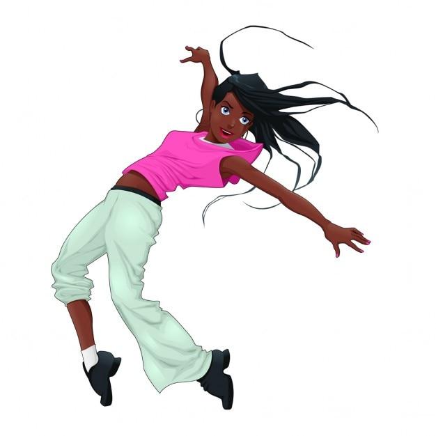 Breakdance divertido del vector del carácter aislado vector gratuito