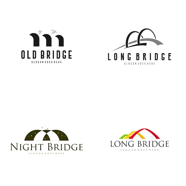 Bridge logo design Vector Premium