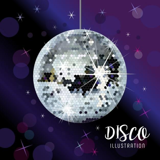 218c4c02de70 Brillante bola de discoteca vector gratuito