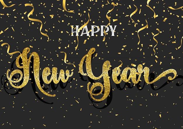 Brillante fondo de feliz año nuevo vector gratuito