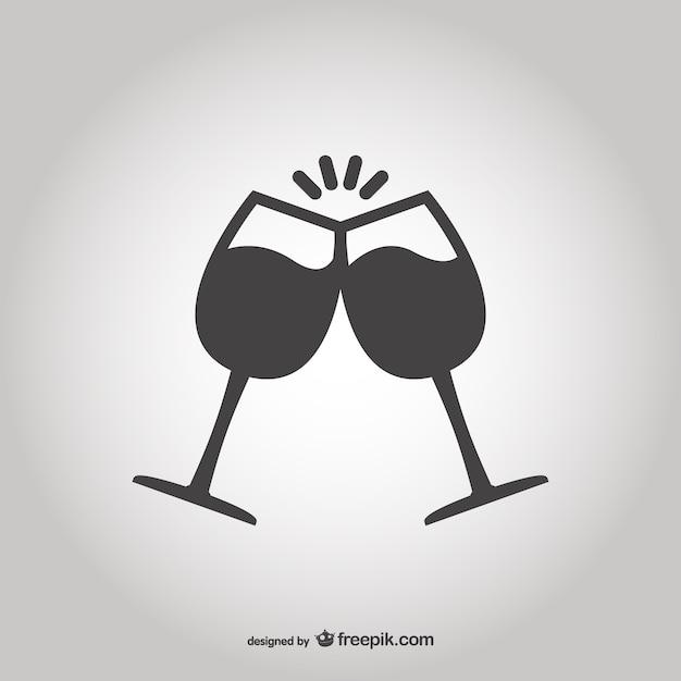 Brindis con copas descargar vectores gratis for Imagenes de copas brindando
