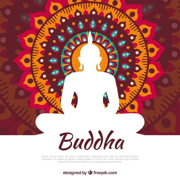 Budha tradicional con diseño plano vector gratuito