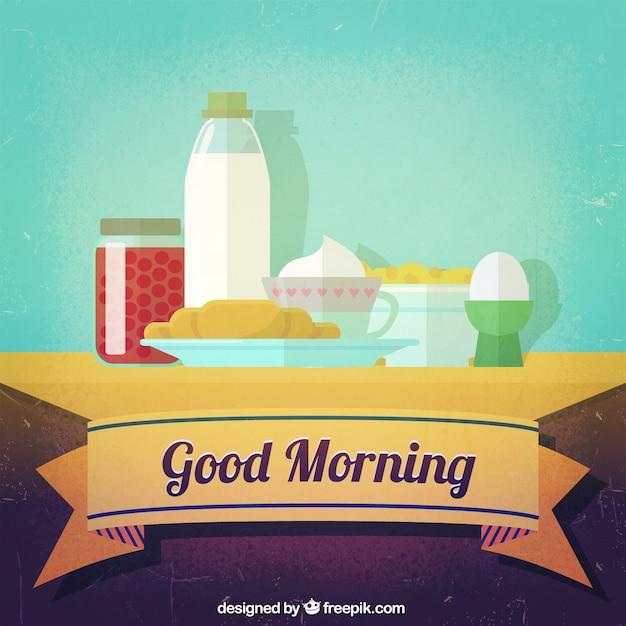 buen desayuno por la mañana Vector Gratis