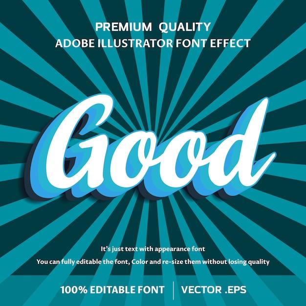 Buen efecto de estilo de texto 3d Vector Premium
