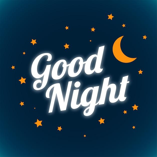 Buenas noches y dulces sueños brillantes diseño de letras vector gratuito
