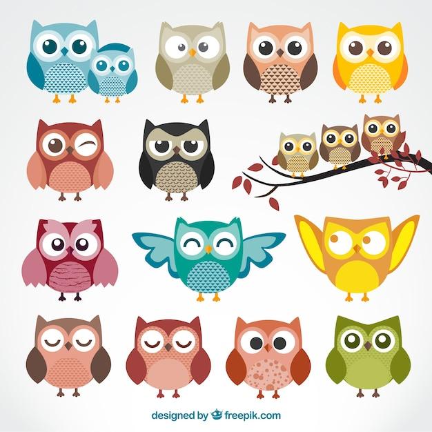 Two Owls On Branch Clip Art Buhos | Fotos y ...