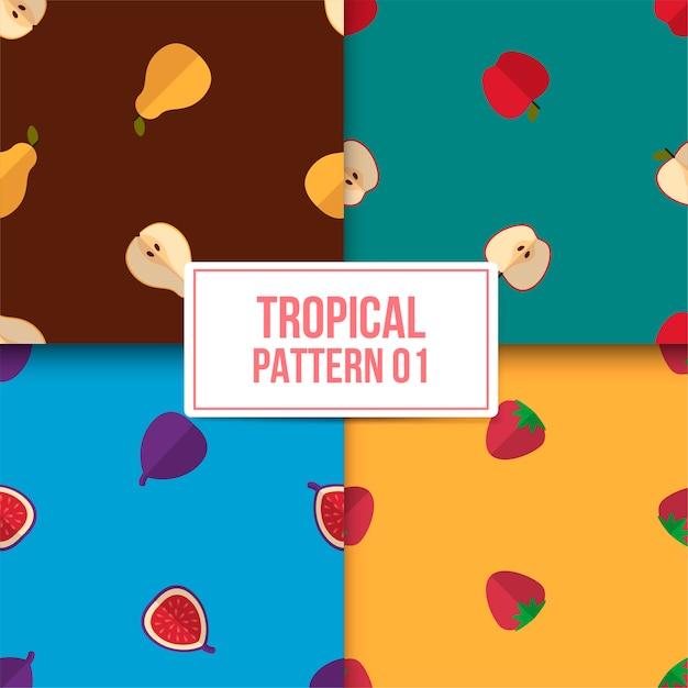 Bundle patrón tropical Vector Premium