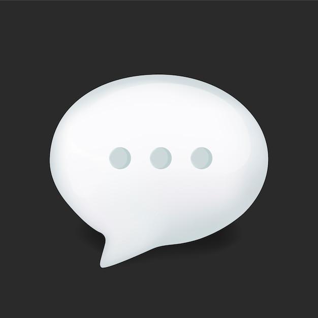 Burbuja de diálogo vector gratuito