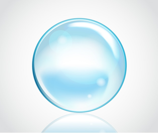Burbujas de agua jabonosa Vector Premium