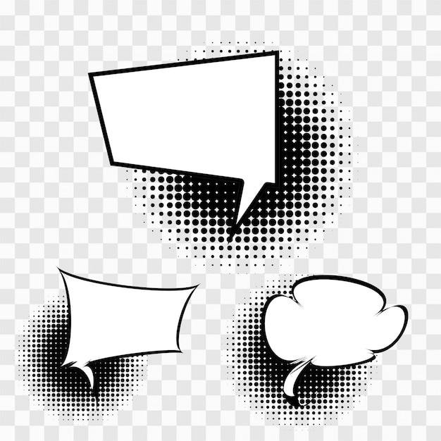 Burbujas de chat Vector Gratis