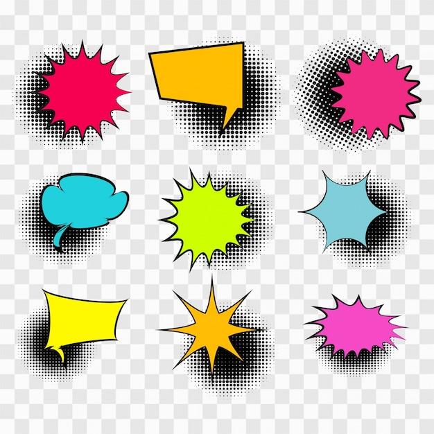 Burbujas de texto coloridas Vector Gratis