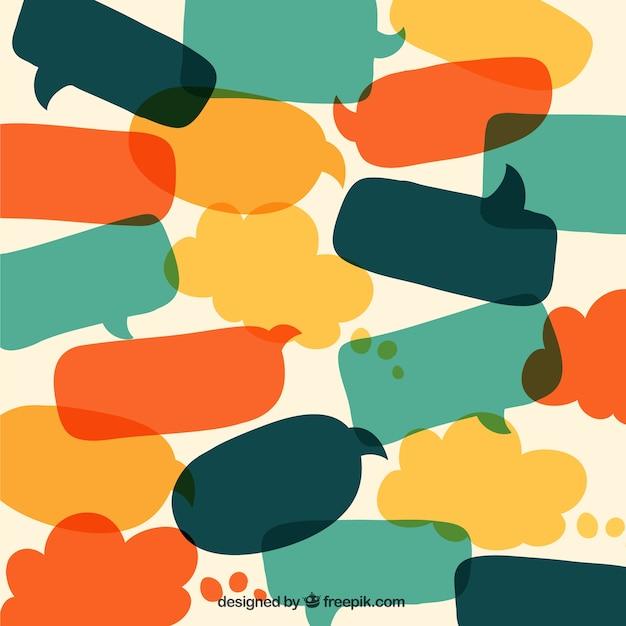 Burbujas del discurso en estilo dibujos animados Vector Premium