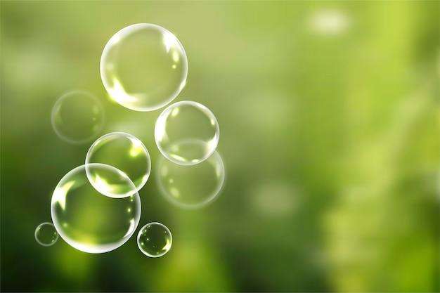 Burbujas de jabón en verano vector gratuito