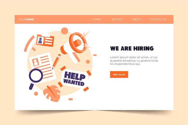 Buscando trabajo estamos contratando página de aterrizaje vector gratuito