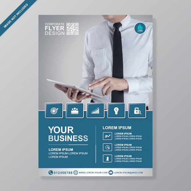 Business cover a4 flyer design template Vector Premium