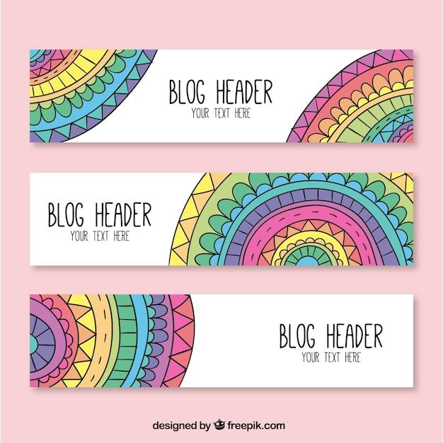 Cabeceras para blog con mandalas de colores descargar - Colores para mandalas ...