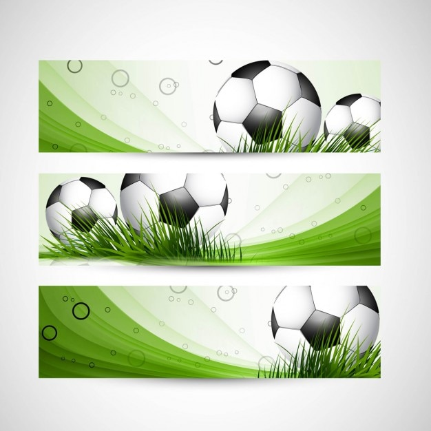 Cabeceras de fútbol del color verde | Descargar Vectores gratis