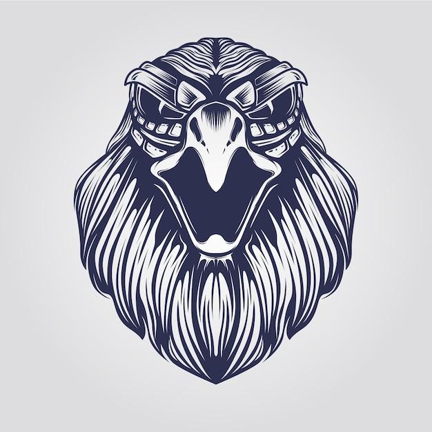 Cabeza de águila Vector Premium