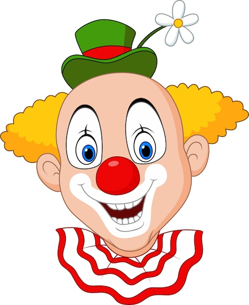 cabeza de payaso feliz de dibujos animados descargar vectores premium clip art clowns free clipart crown images