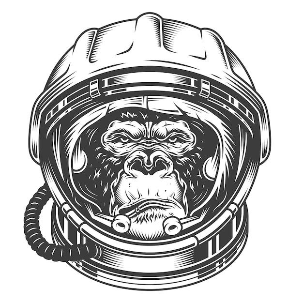Cabeza de gorila vector gratuito