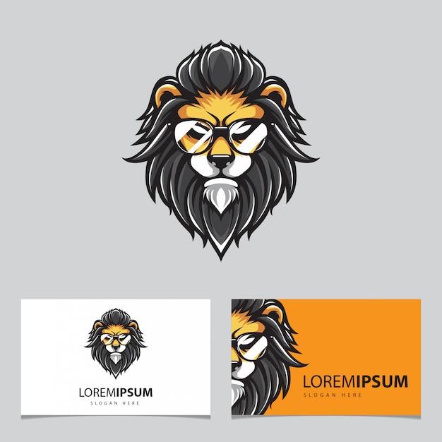 Cabeza de león inconformista Vector Premium