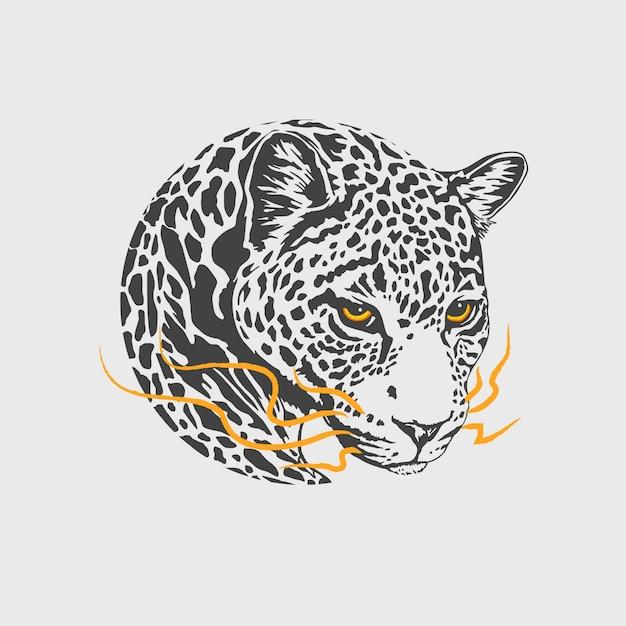 Cabeza de leopardo Vector Premium