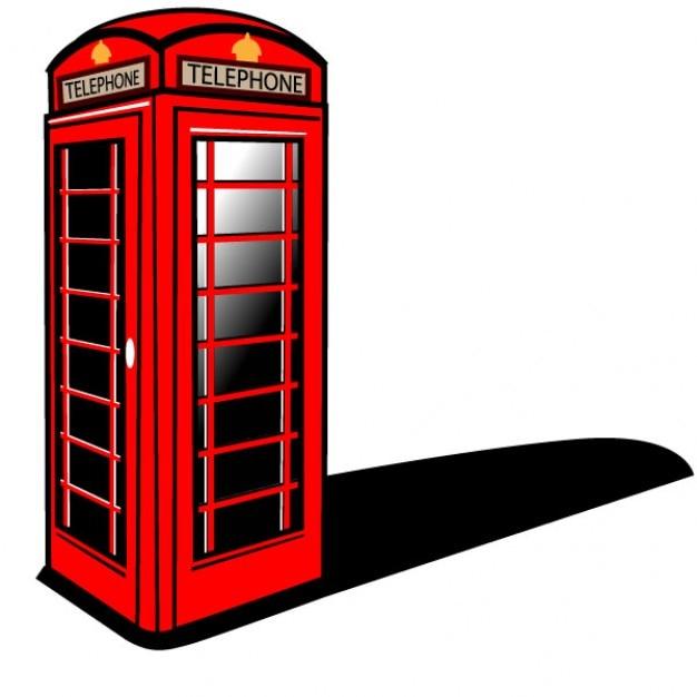 Cabina de teléfono rojo de londres vector gratuito