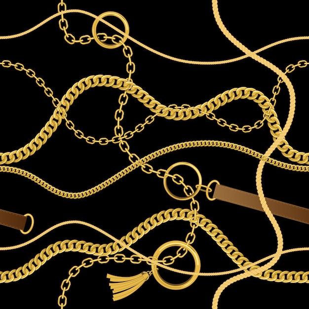 Cadenas, cuerdas y cinturones. Vector Premium