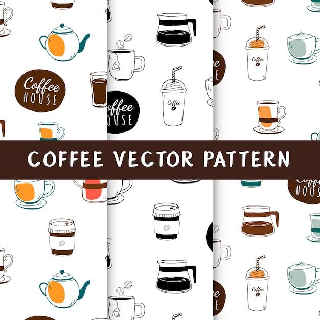 Café y cafetería vector de fondo transparente vector gratuito